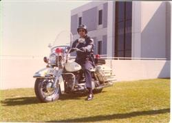 In 1974 Eden Prairie began its first motorcycle patrol. Pictured above is Officer Jim Matson