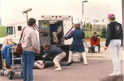 1989 - An armored car was robbed in front of an  Eden Prairie bank by three masked men carrying machine guns. Although the crime was profiled on NBC's Unsolved Mysteries, no one was ever arrested.