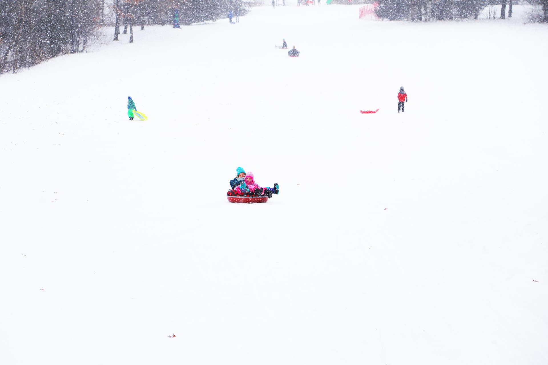 Winter Sledding Hill