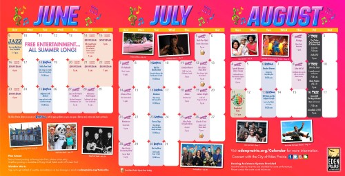 Sounds Around Town Summer Entertainment Concert Series Calendar