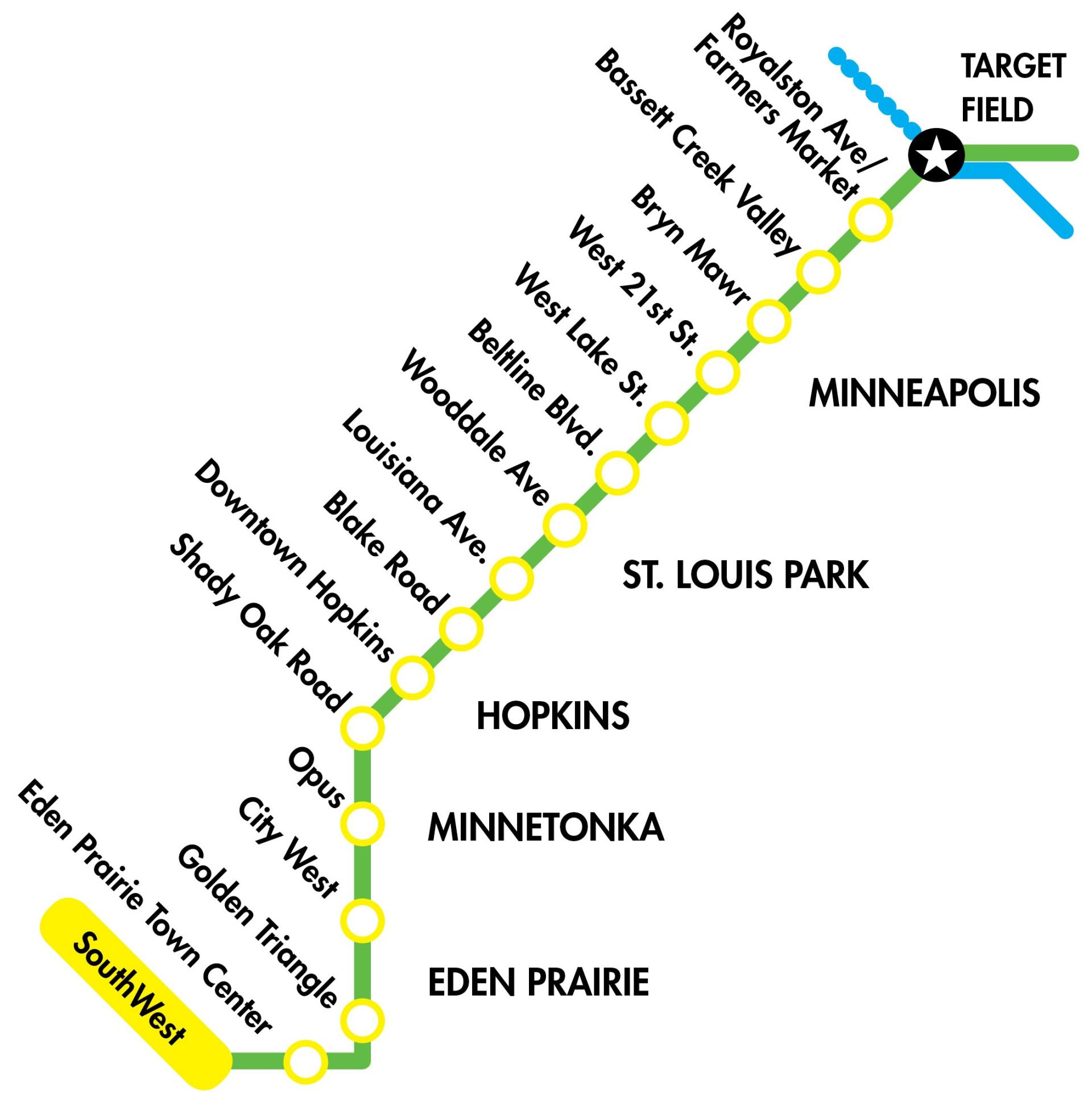 SWLRT Route graphic