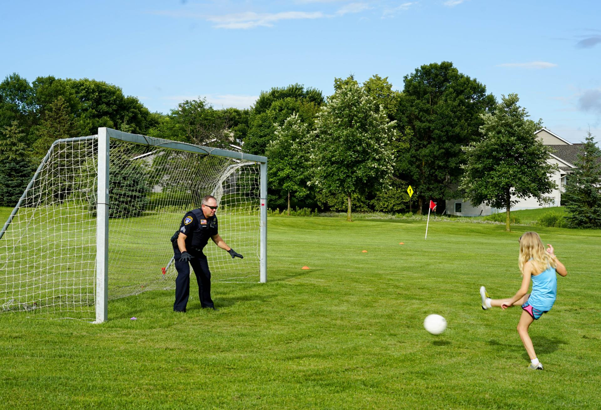 kickin it with the cops 7-10-19 - soccer